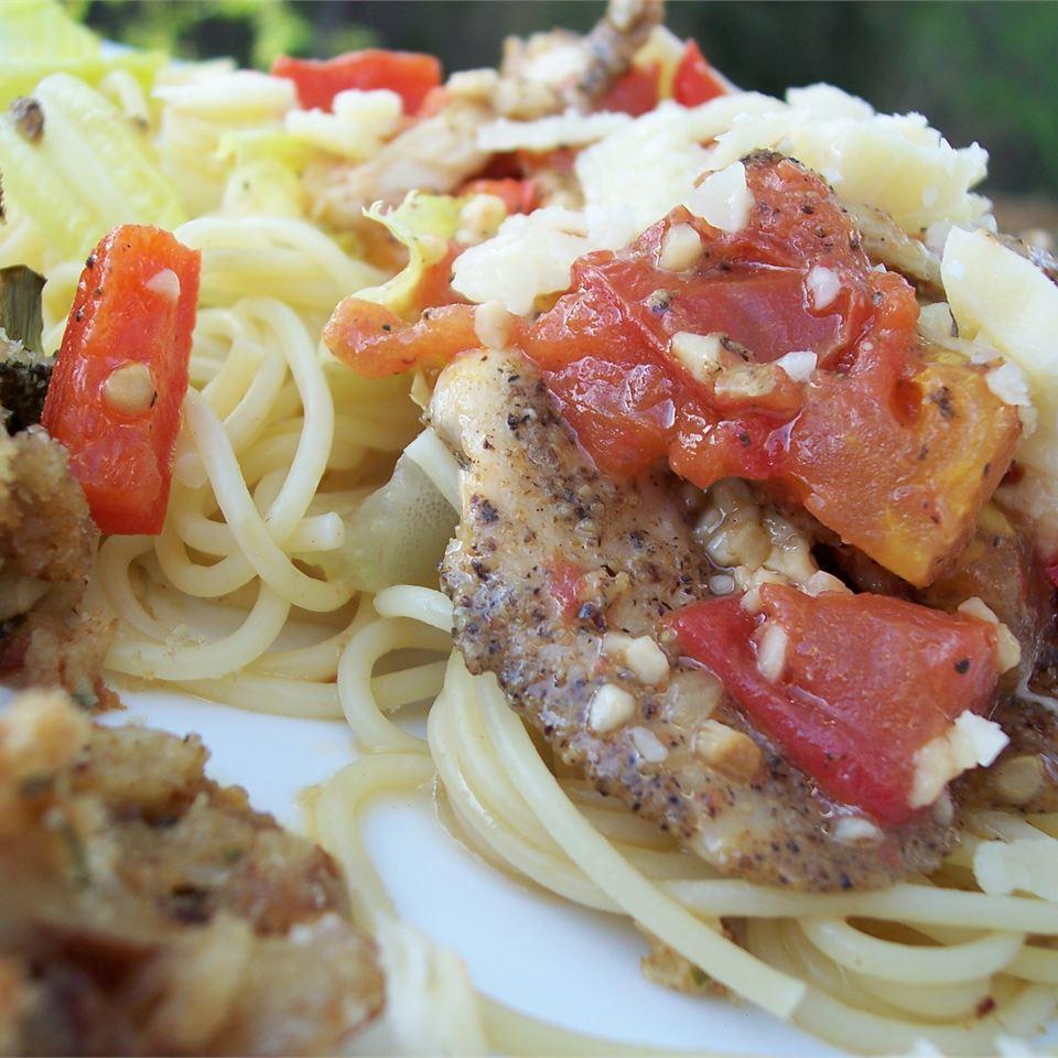 tilapia and mizithra pasta recipe