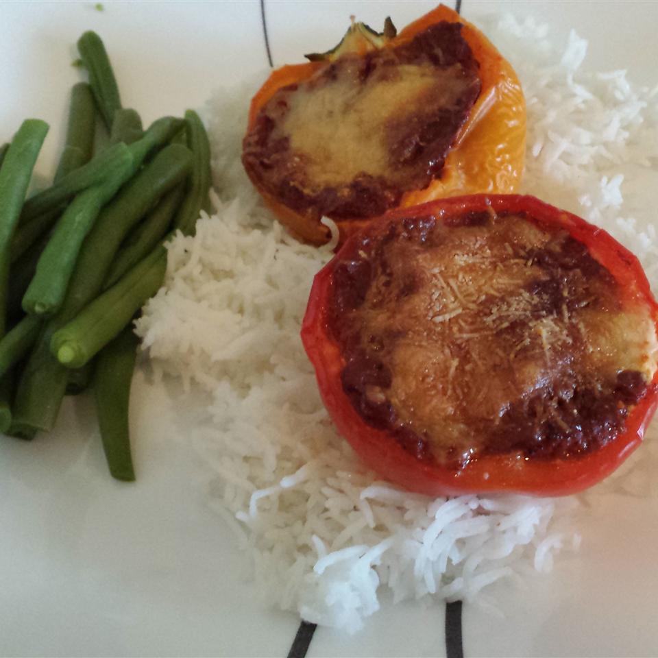 Lasagna Pepper Boats