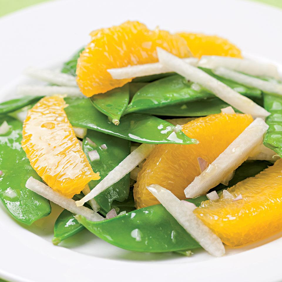 Snow Pea, Orange & Jicama Salad EatingWell Test Kitchen