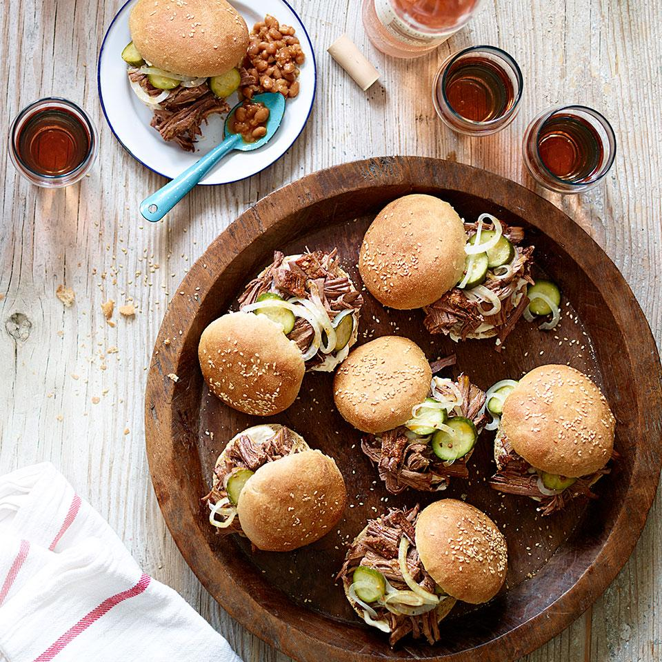 Slow-Cooker Brisket Sandwiches with Quick Pickles Carolyn Malcoun