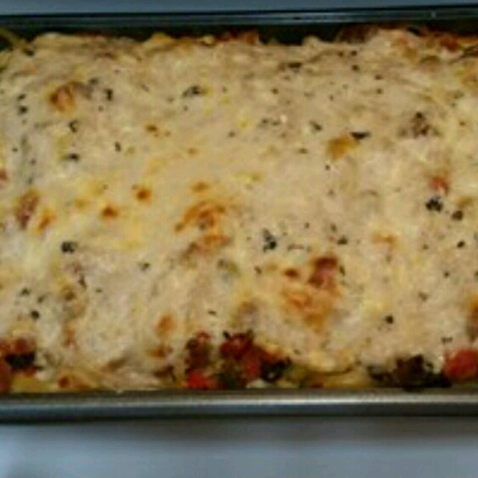 Baked Fettuccine Lasagna Kimberly Borishade