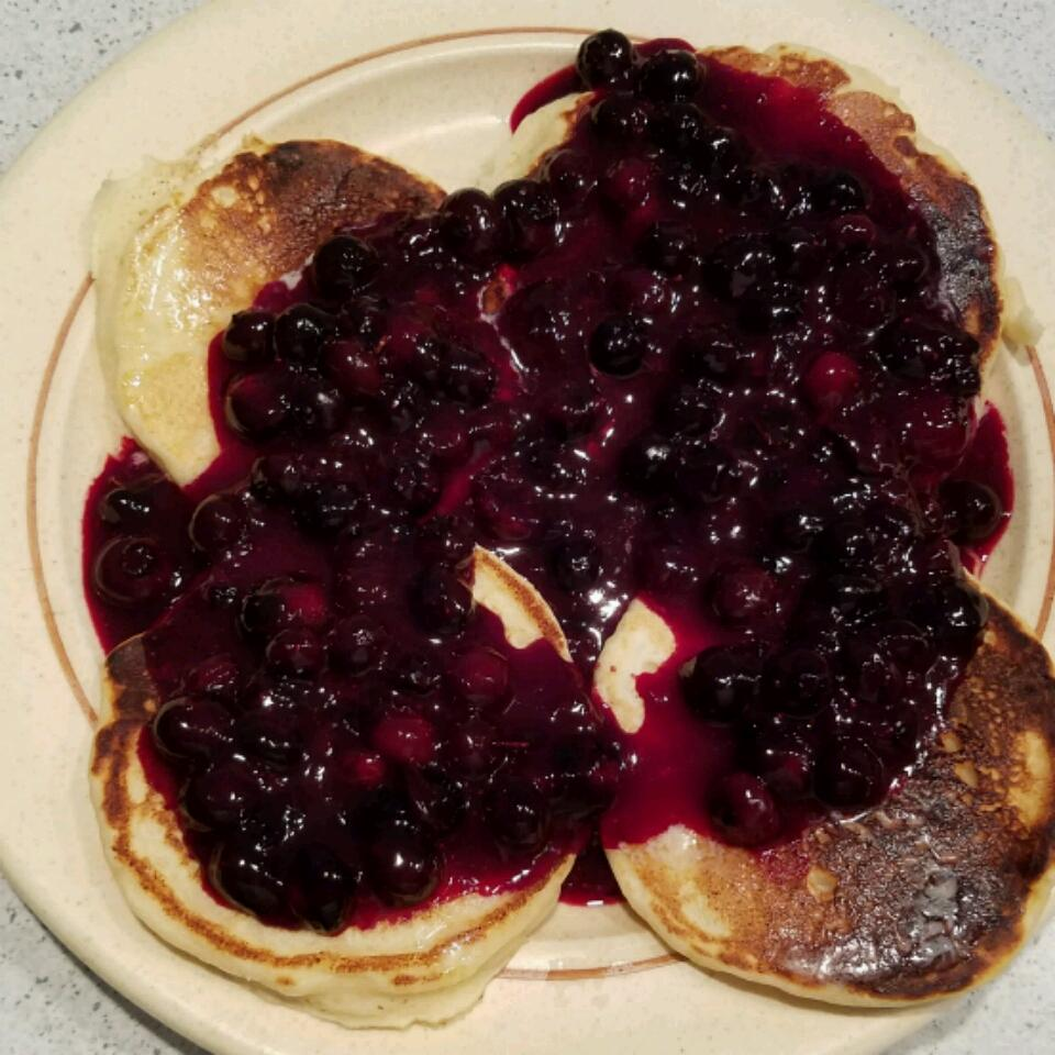 Lemon Ricotta Pancakes with Blueberry Sauce Manuela Rathsack