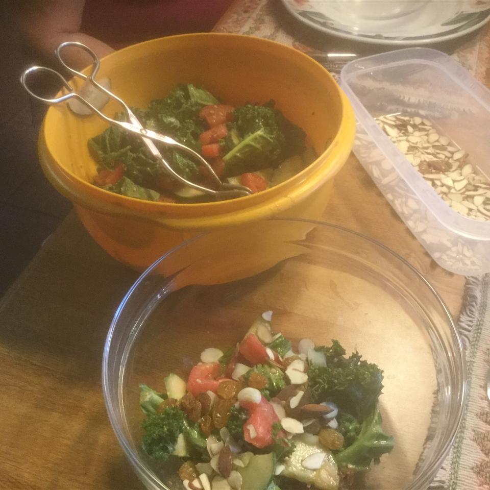 Kale and Cucumber Salad with Lemon Tahini Dressing Jim Peters