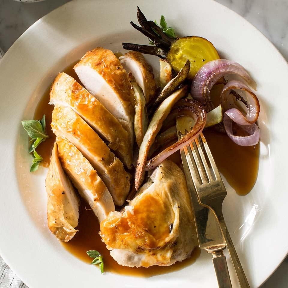 Roasted Chicken with Pan Gravy EatingWell Test Kitchen