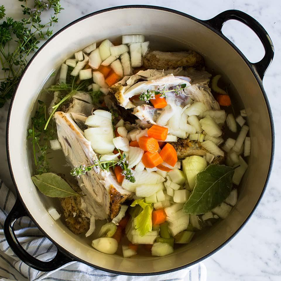 Homemade Roasted Chicken Stock