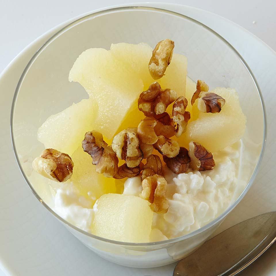 Cottage Cheese & Pear Parfait Sara Haas, R.D.N., L.D.N.