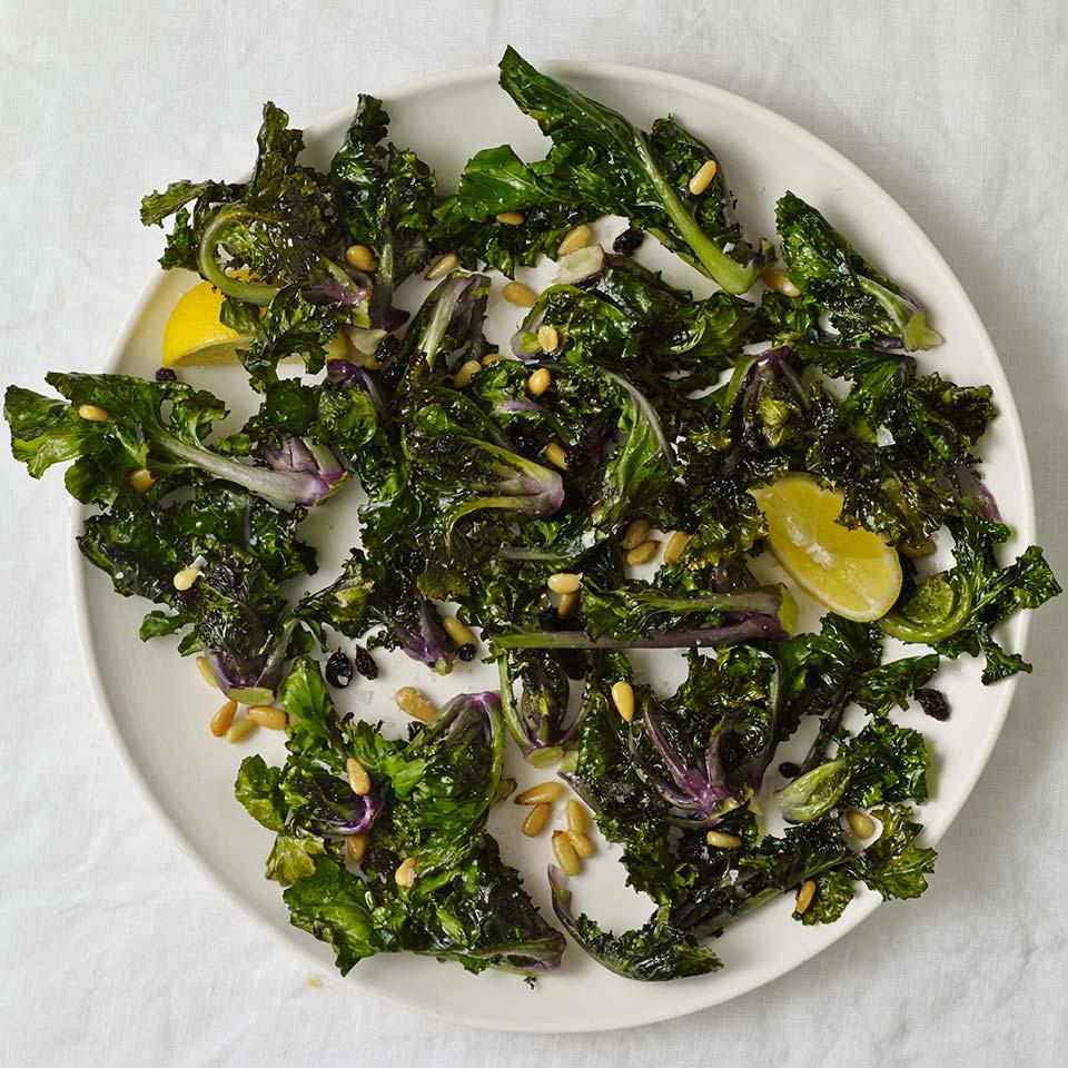 Kalettes are a relatively new hybrid of kale and Brussels sprouts. When roasted in this healthy side dish, they get crispy on the outside and stay tender on the inside. Look for kalettes near other bagged vegetables in the produce section.