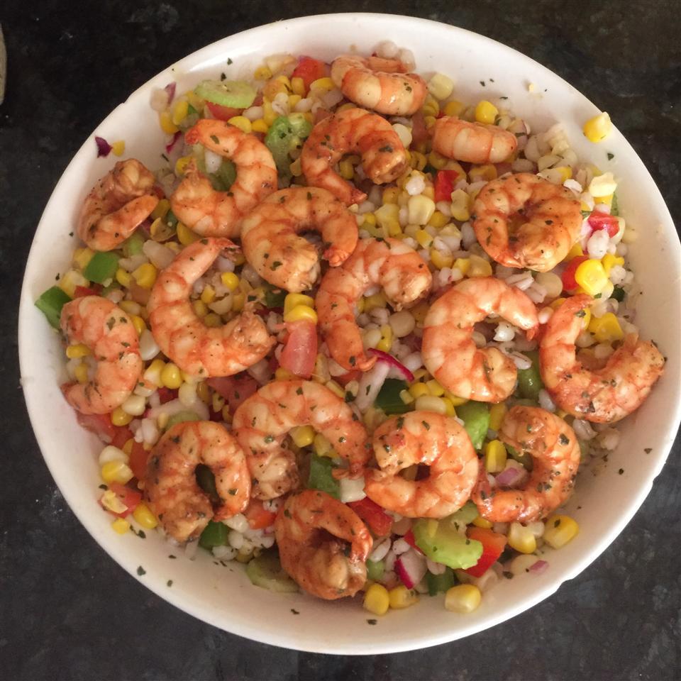 Grilled BBQ Shrimp with Citrus Corn Salad James Fleming