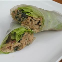 Lemon Grass and Chicken Summer Rolls Rhianna
