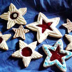 Raspberry Star Cookies