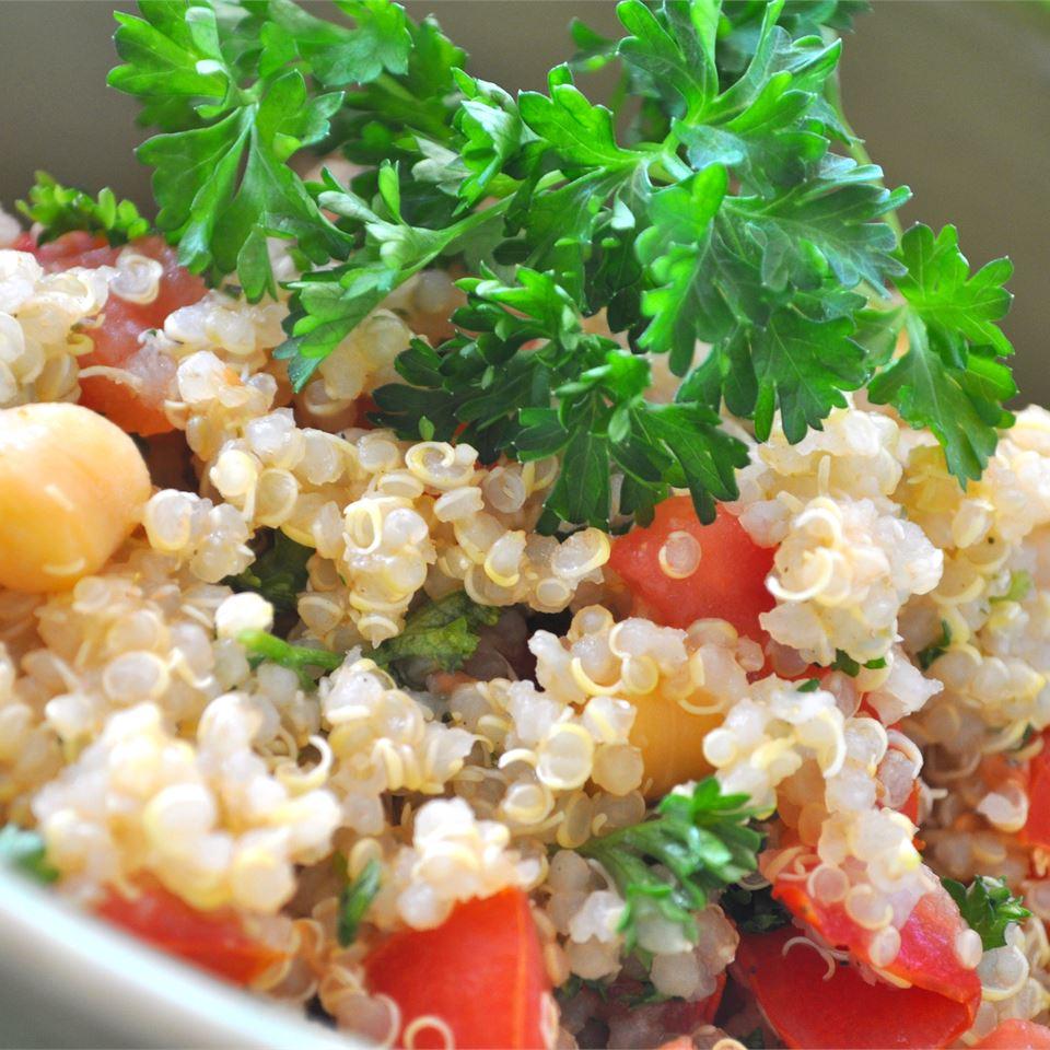 Quinoa with Chickpeas and Tomatoes sarahhouston