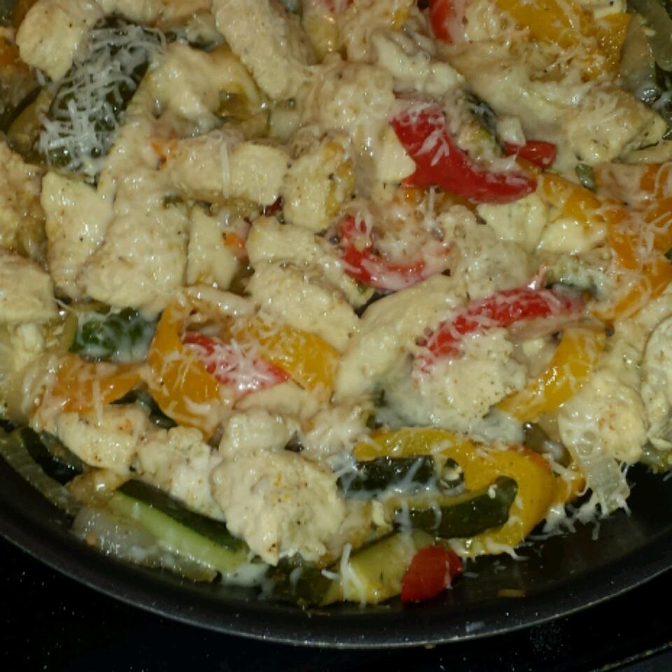 Garlic Chicken and Zucchini