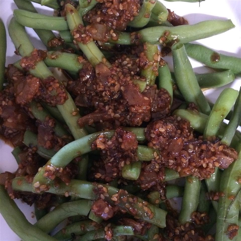 Fresh Green Beans with Heaven Sauce Linda!!