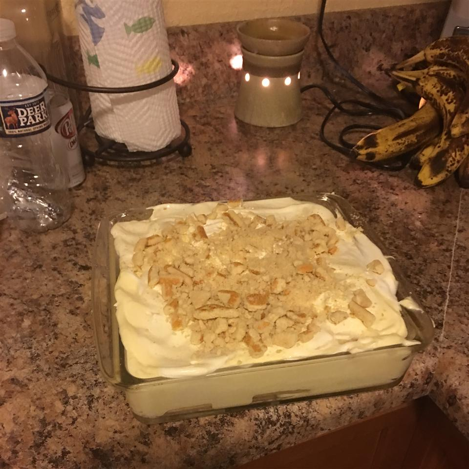 Uncooked Banana Pudding