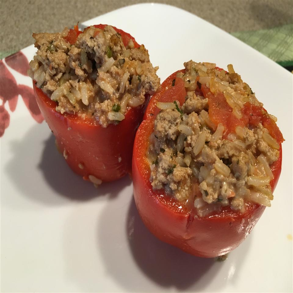 FODMAP Stuffed Peppers