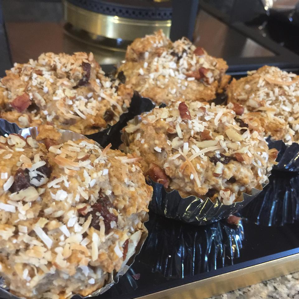 Golden Coconut Almond Muffins E.L.Habib
