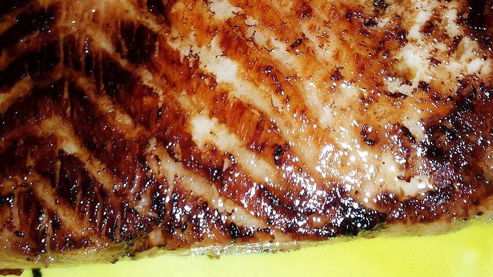 Salmon Yakitori