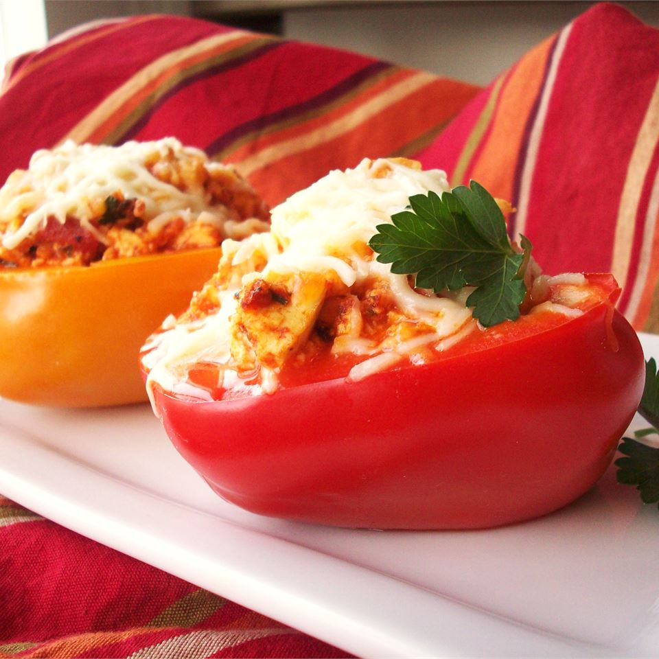 Tofu and Rice Stuffed Peppers