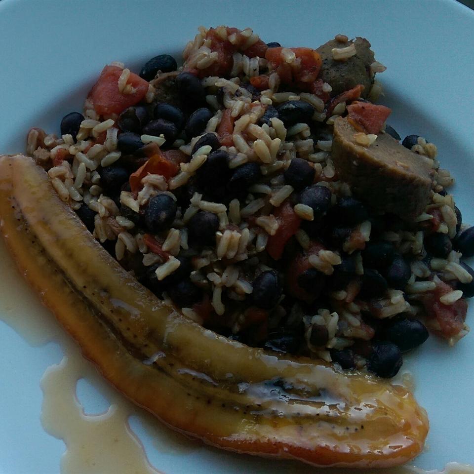 Brazilian Sweet Banana and Rice Dish
