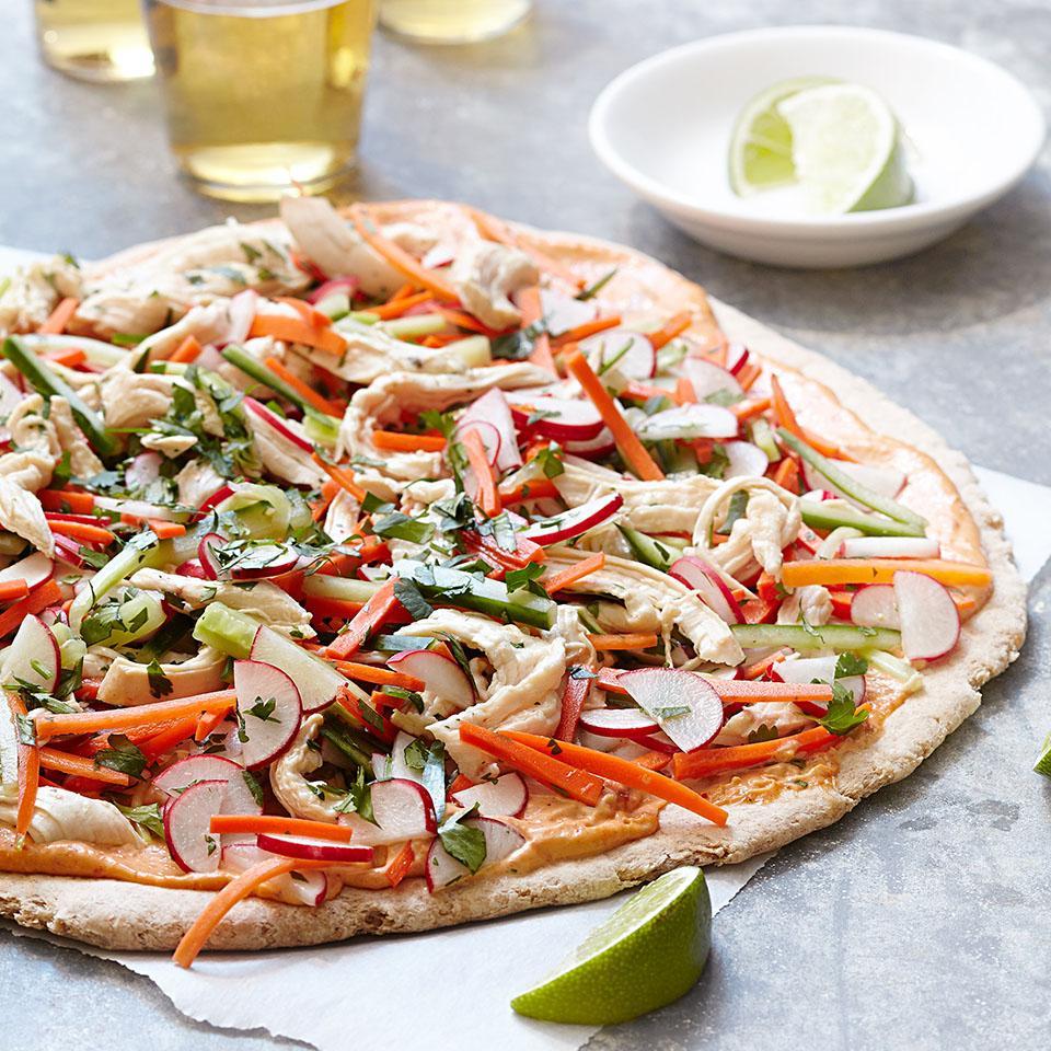 Chicken Banh Mi Pizza EatingWell Test Kitchen