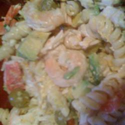Shrimp Avocado Pasta Salad chibiluz