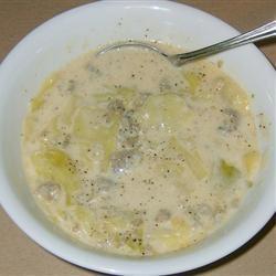 Bratwurst, Potato and Cabbage Soup