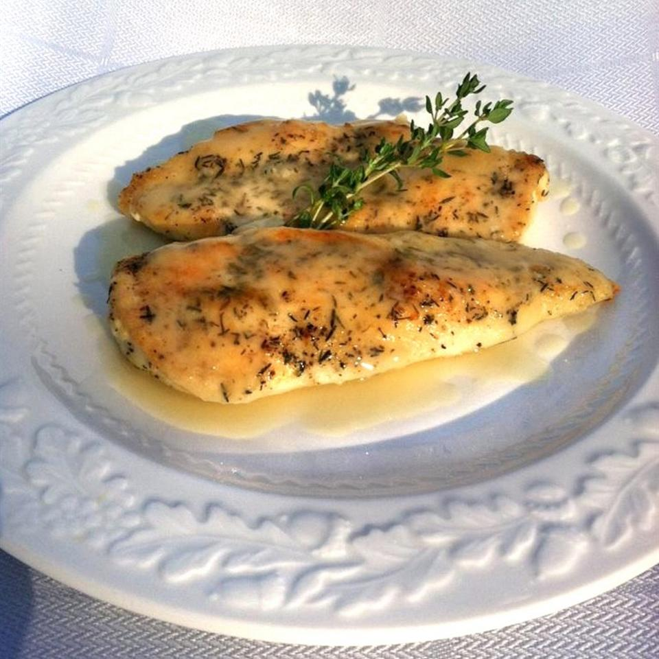 Pan-Seared Chicken with Thyme Celeste