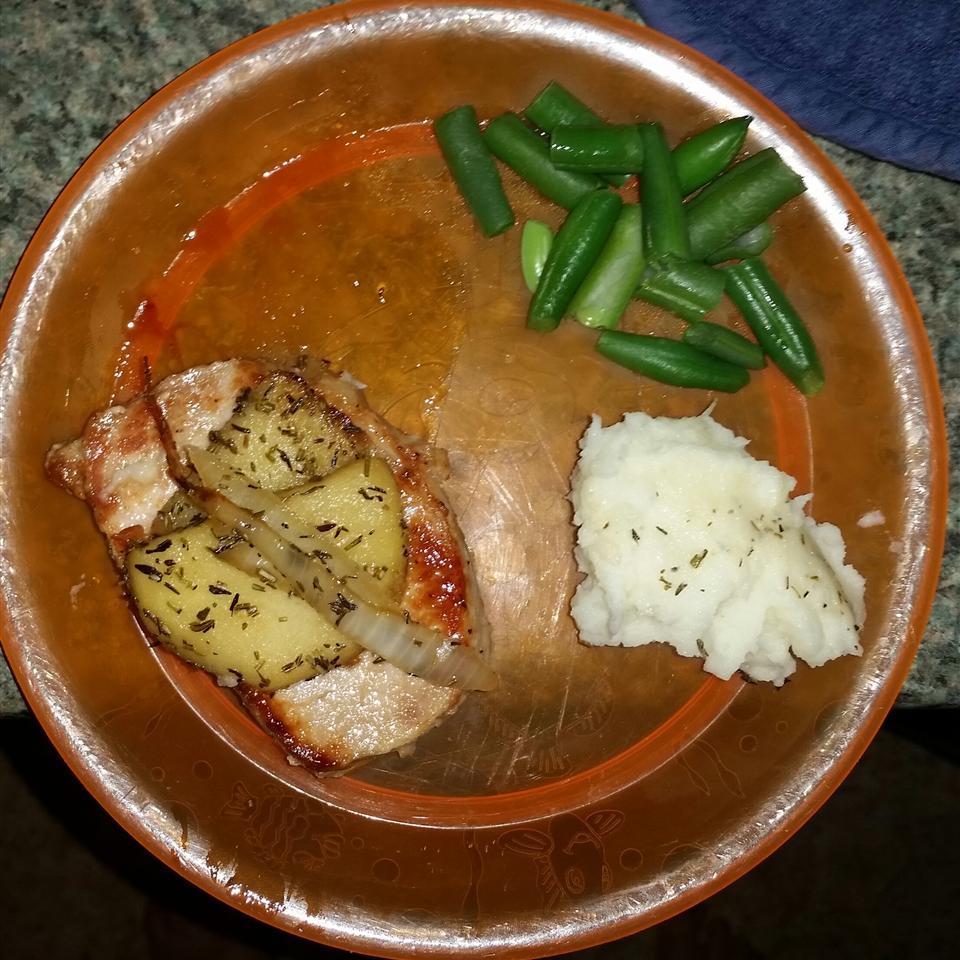 Autumn Apple Onion Pork Chops Maegan White