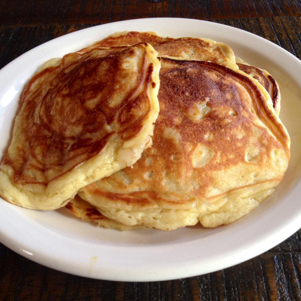 Greek yogurt adds a tangy flavor and soft texture to pancakes. Give this recipe a go and have fluffy pancakes on the table in just 15 minutes! Serve the pancakes warm with any leftover yogurt and a fruit compote for a special brunch dish.