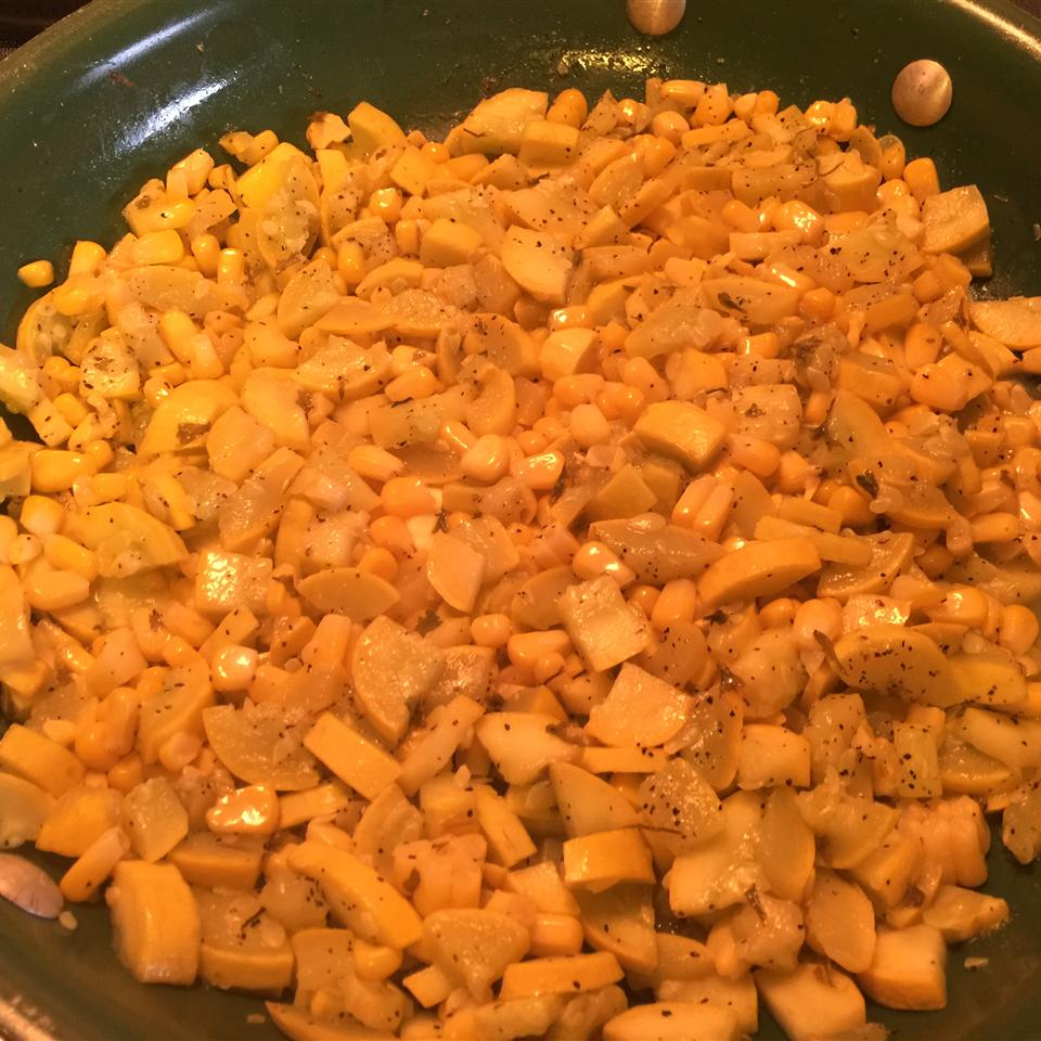 Yellow Squash and Corn Saute