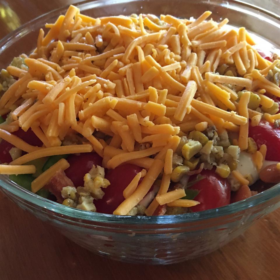 Mexican Cornbread Salad DotDot