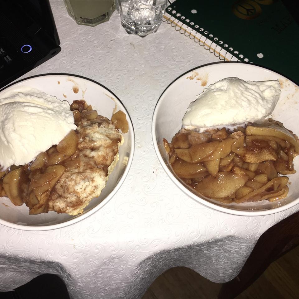 Warm Apple Cinnamon Cobbler Meg McGath