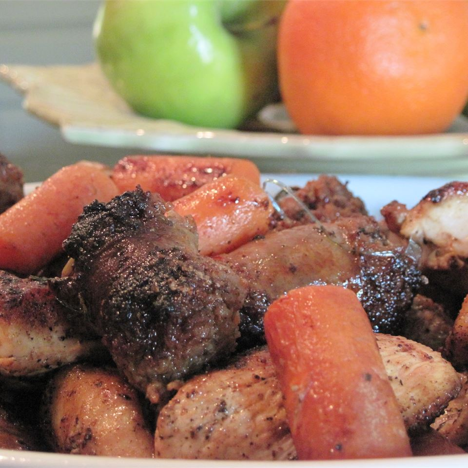 Crispy Oven-Roasted Rosemary Chicken with Sausage and Potatoes M-B