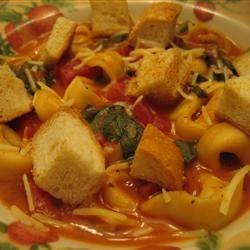 Minute Tomato Soup with Tortellini ekp333