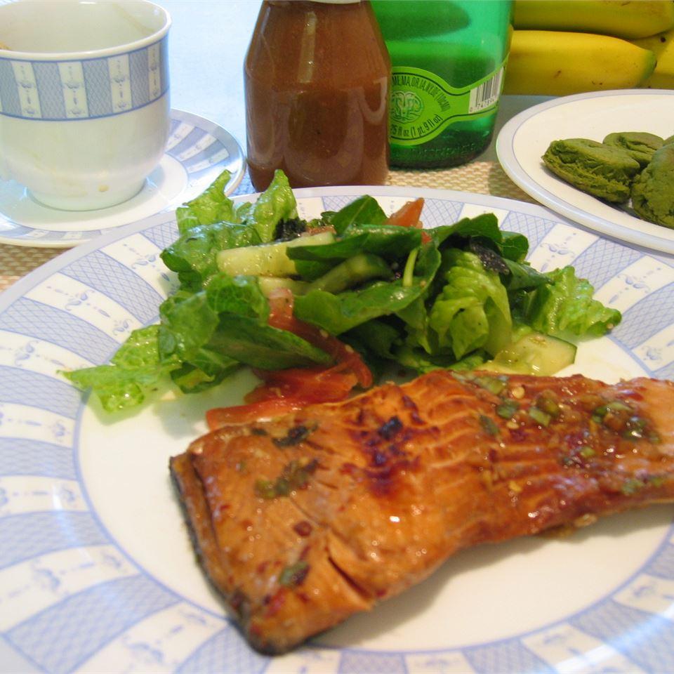 Grilled Salmon II milktea