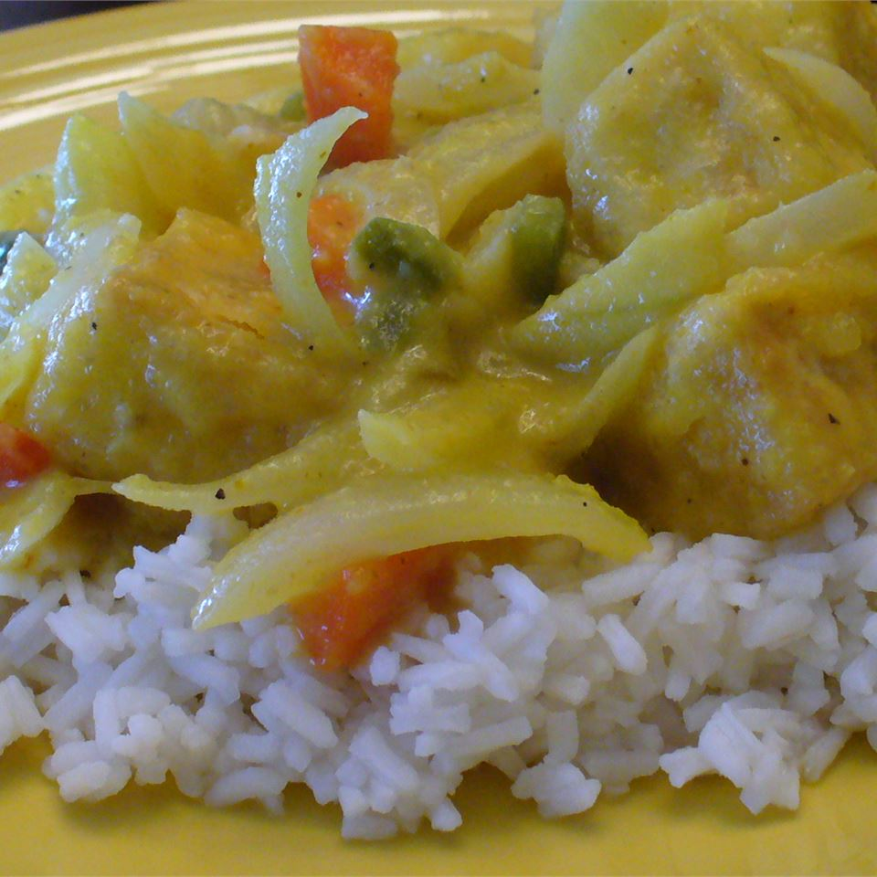 Spicy Indian Chicken and Mango Curry