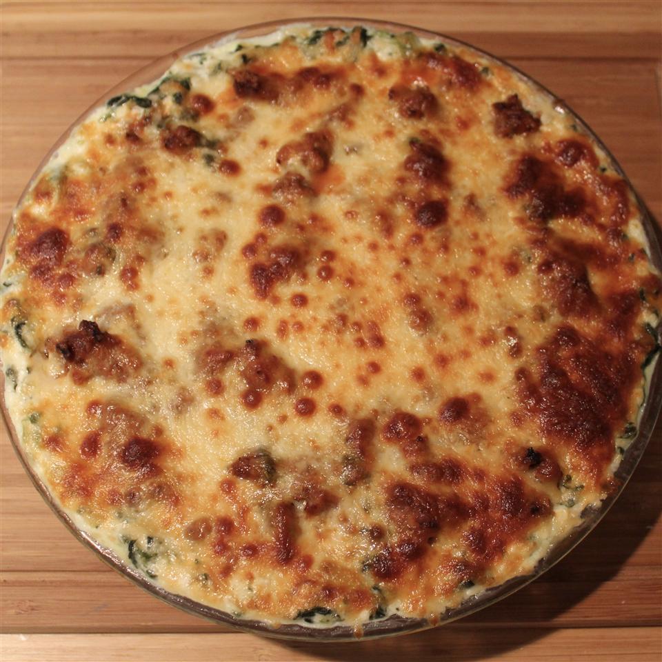 Spinach, Sausage and Cheese Bake Paula