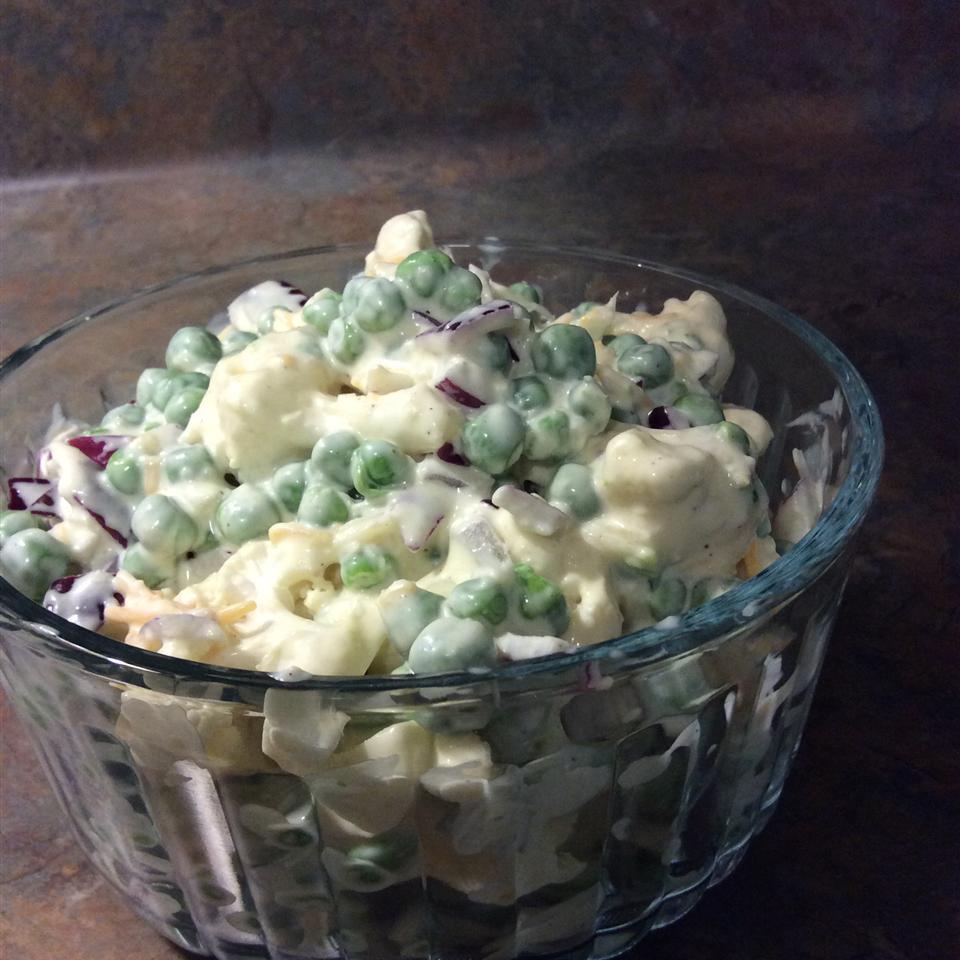 Ginny's Cauliflower and Pea Salad Yummy Goode