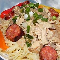 andouille and chicken creole pasta recipe