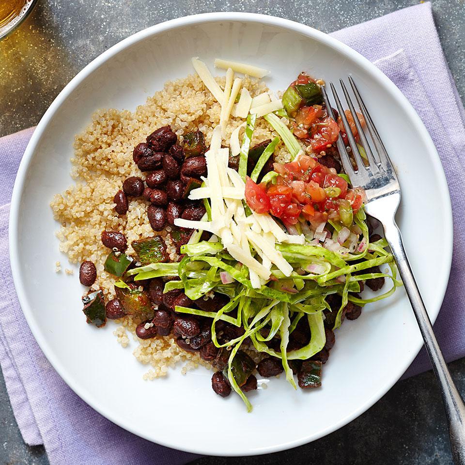 Tex-Mex Black Bean & Quinoa Bowl EatingWell Test Kitchen