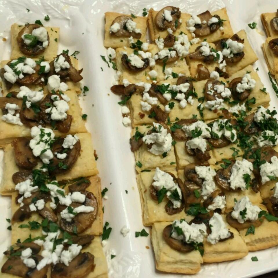 Mini Mushroom and Goat Cheese Tarts Logan Wolff
