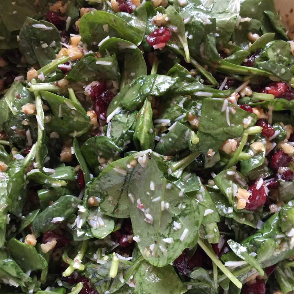 Simple Cranberry Spinach Salad PeppyChristian