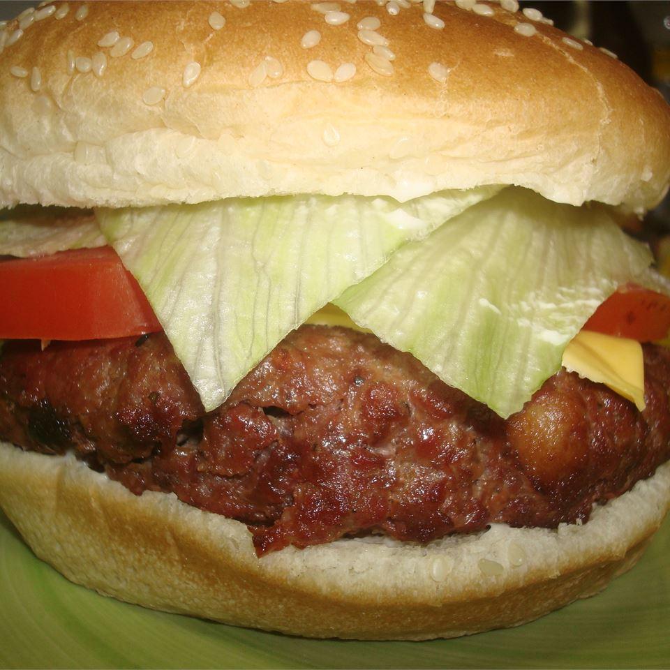 Venison Bacon Burgers