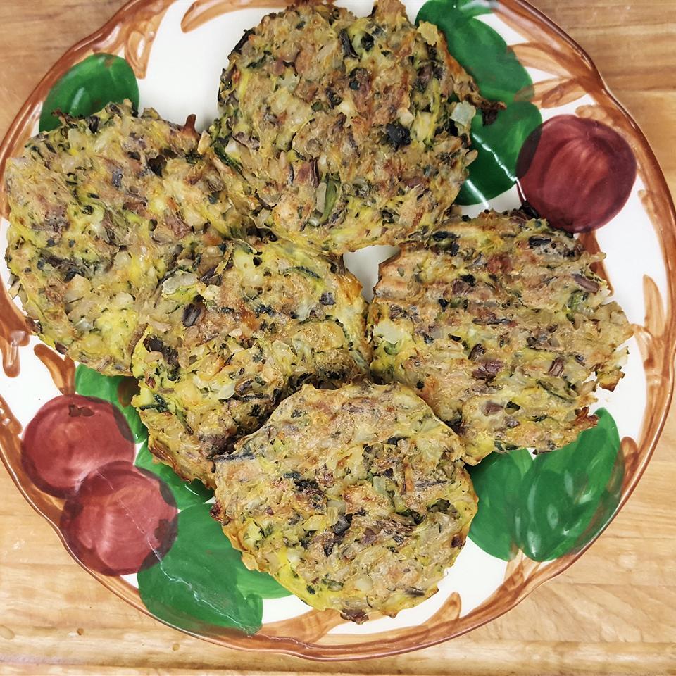 Zucchini, Wild Rice, and Hazelnut Fritters Jane H