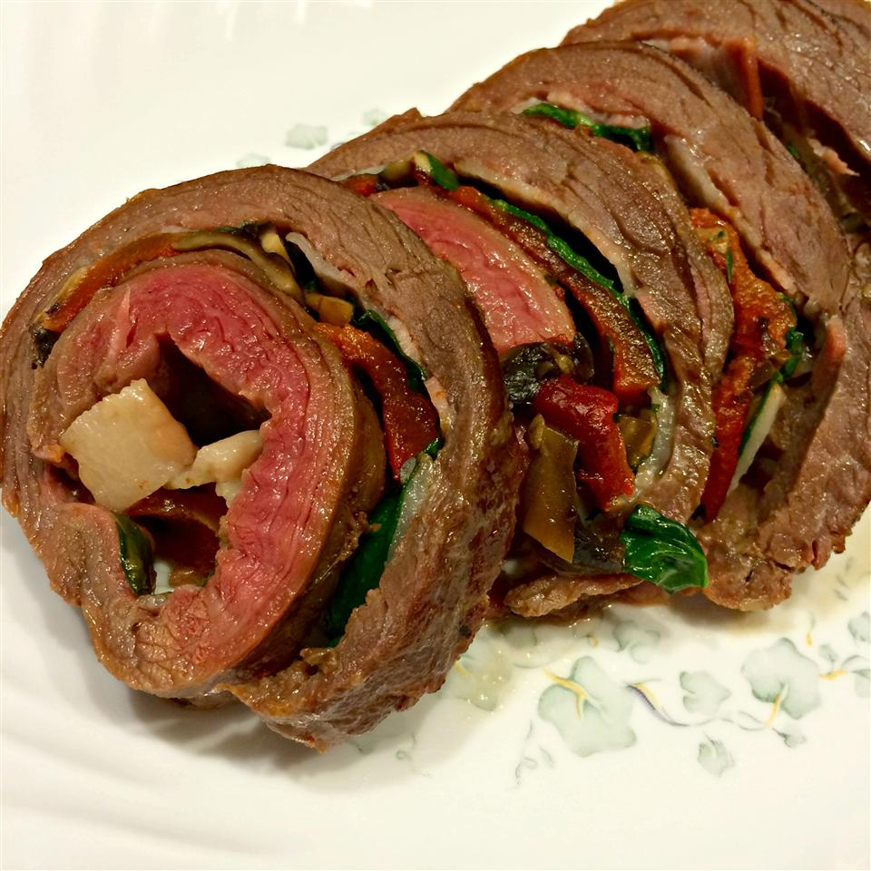 Rolled Flank Steak Kim's Cooking Now