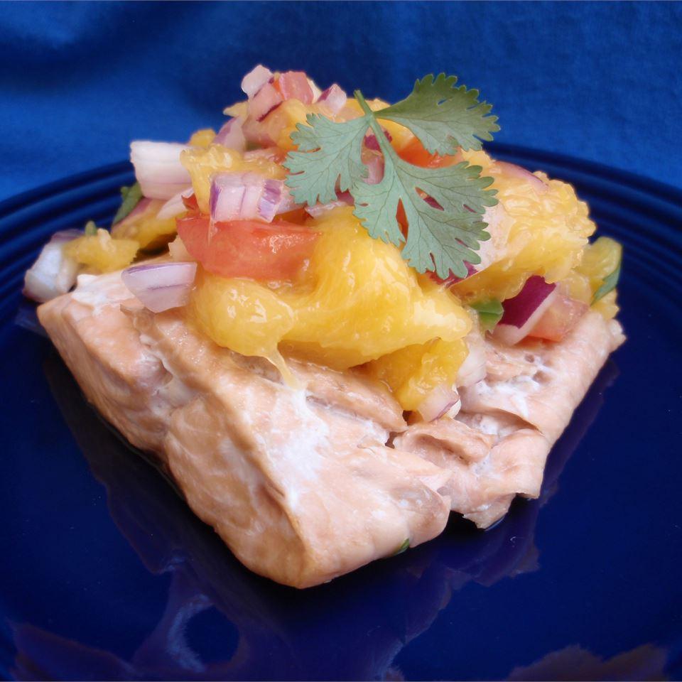 Mango Salsa Salmon Scotdog