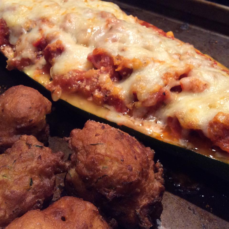 Pepperoni Stuffed Zucchini Tracey W