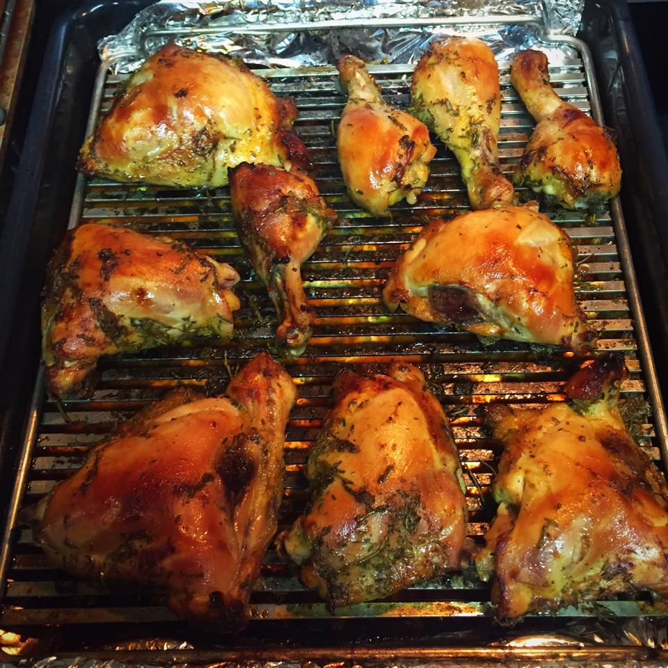 Roasted Orange Rosemary Honey Glazed Chicken