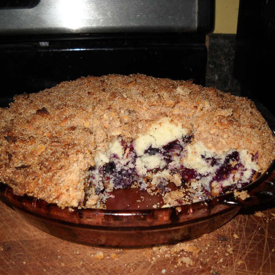 Toasted Coconut-Topped Blueberry Cake