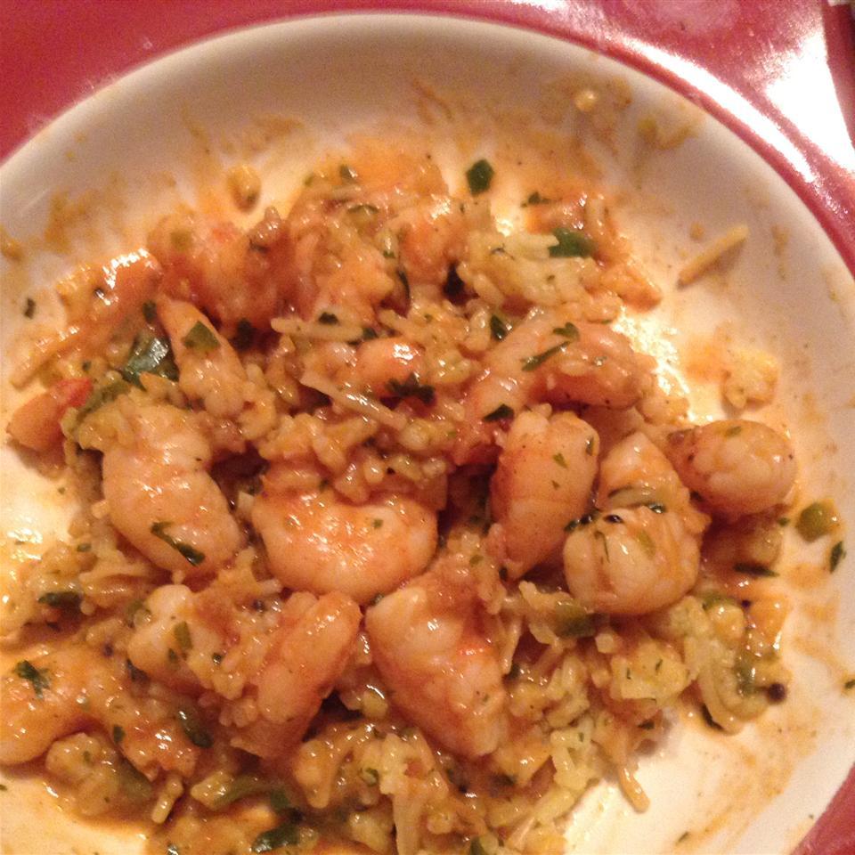 Indian Stir-Fried Shrimp in Cream Sauce (Bhagari Jhinga) Diane Faber Treadway